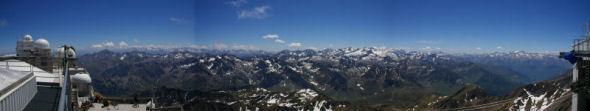 Panoramique vers le Sud du Pic du Midi de Bigorre
