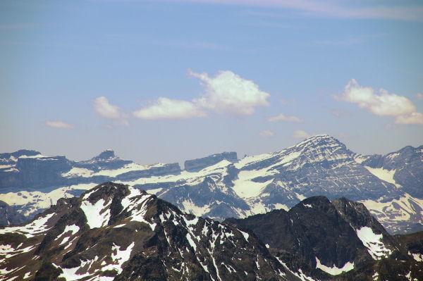 Le Casque, la Brèche Roland et le Taillon depuis le Pic du Midi de Bigorre