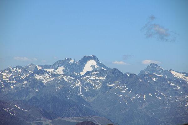 Le Balaïtous et le Palas depuis le Pic du Midi de Bigorre