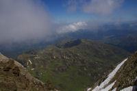 Vue de la vallee d&#39Arizes depuis le Pic du Midi de Bigorre
