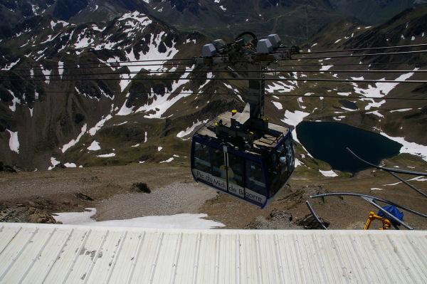 Une cabine du téléferrique du Pic du Midi de Bigorre