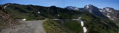 Le chemin montant au Pic du Midi de Bigorre, juste avant le premier tunel