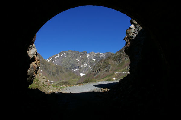 Vue à la sortie du tunel
