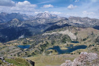 Lac inferieur et Lacs du Milieu de Bastan