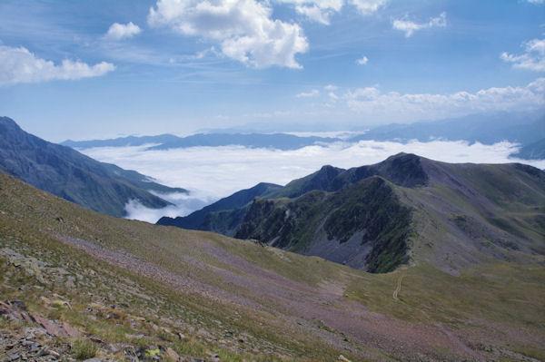 La crête Sud-Est du Pichaley vers le Pic de Montarrouyes