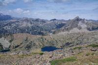 Le Lac Superieur de Bastan et les Lacs de Bastanet domines par le Pic de Bastan