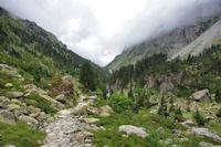 La vallée du Gave des Oulettes de Gaube en amont de la Cabane du Pinet
