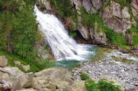 La partie inferieure de la Cascade Esplumouse