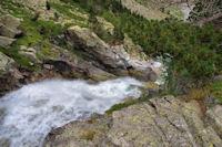 La partie supérieure de la Cascade Esplumouse