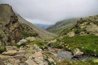 La vallée de Gaube en aval des Petites Oulettes