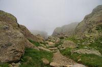 Le chemin remontant vers les Oulettes de Gaube