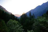 La vallee du Gave d'Arrens au petit matin