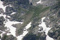 Les lacets pour monter au Col d'Artouste depuis le Lac de Migouelou