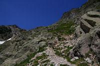 La montee finale au Col d'Hospitalet depuis le Lac de Migouelou
