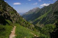 La vallee du Gave d'Arrens, au fond, le Pic de Sarret