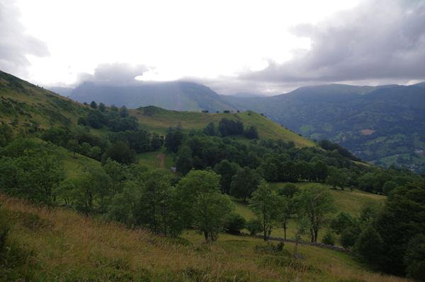 Le vallon des Balagnas surmonté par le Pic de Predouset et le Turon des Aulhès