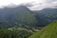 La vallee du Gave d'Arrens depuis les pentes Sud du Pic de Predouset