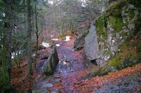 Le sentier au dessus de la Cascade de Bousses