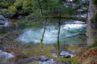 Le Gave du Marcadau sous la cascade d'Escane Gat