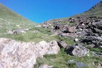 La montee vers le Col d'Uzious