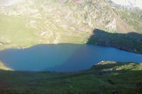 Le Lac du Lavedan depuis le Col d'Uzious