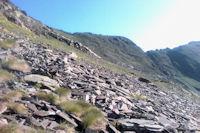 La montee vers le Sanctus au dessus du Col d'Uzious