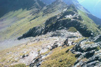 La crete entre le Sanctus et le Pic de Louesque, au fond, le Col de Louesque
