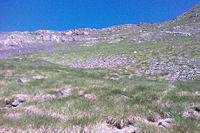 La crete menant au Sanctus depuis le vallon de Couyeou Maou