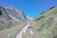 Le chemin en arrivant a la Cabanne de Bouleste, a gauche, le Hautafulhe