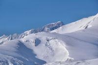 La Crête de Cap Dessus, derrière, le Pic de Balaïtous