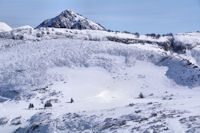 Le Pic de Bazès émergenat au dessus du Pic de Cantau