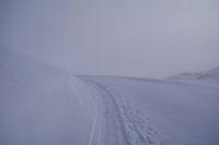 Le Col de Mauben dans le brouillard