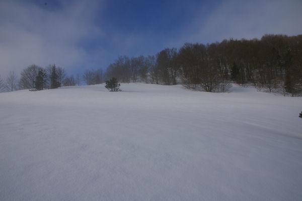 Champ de neige sous le Soum de Berducou