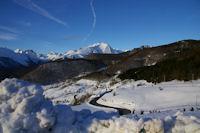 La vue depuis le parking du Col de Couraduque, Balaitous, Gabizos et Berbeillet