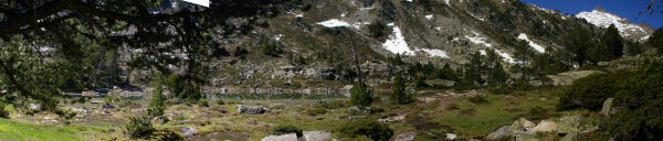 Panoramique de la seconde Laquette, a droite, le Ramougn