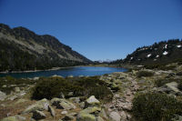 Vue du lac d'Aumar vers le Sud-Est