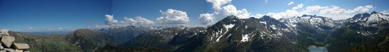 Panoramique au Sud du Soum de Monpelat