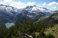 Le lac d'Oredon, les Laquettes, le lac d'Aubert et le lac d'Aumar depuis le Soum de Monpelat