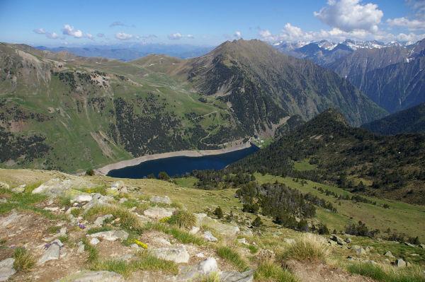 Le lac de l'Oule depuis le Soum de Monpelat