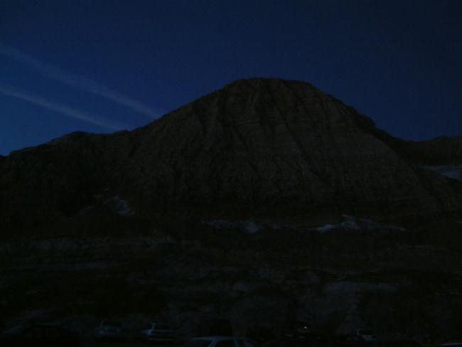 La silhouette du Taillon au petit matin
