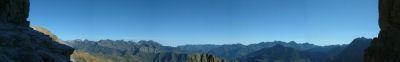 Panoramique Nord depuis la Breche de Roland
