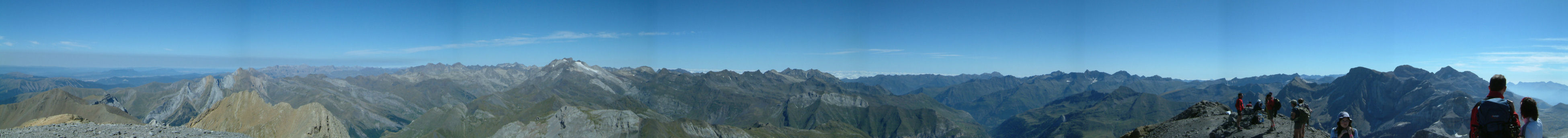 Panoramique au sommet du Taillon