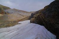 Neves tardifs avant d'acceder au vallon du ruisseau de Tapou