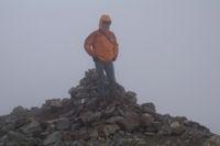 Jacques au sommet du Grand Pic de Tapou