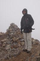 Fred au sommet du Grand Pic de Tapou