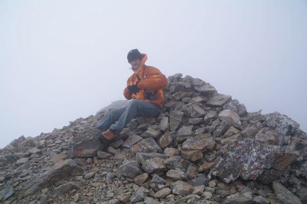 Jacques au sommet du Pic du Milieu de Tapou