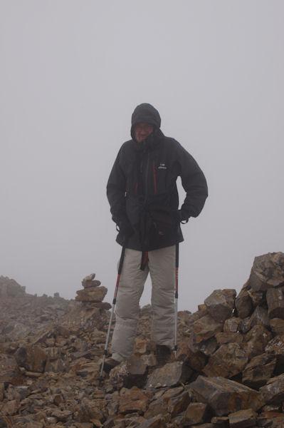 Fred au sommet du Pic du Milieu de Tapou