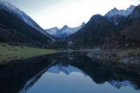 Le lac du Tech depuis le barrage