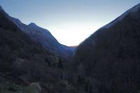 La vallee du gave d'Arrens depuis le barrage du Tech