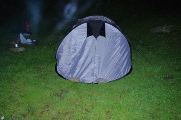Notre campement sur le parking de Frédançon